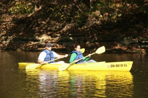 Double Kayaks at Mohican